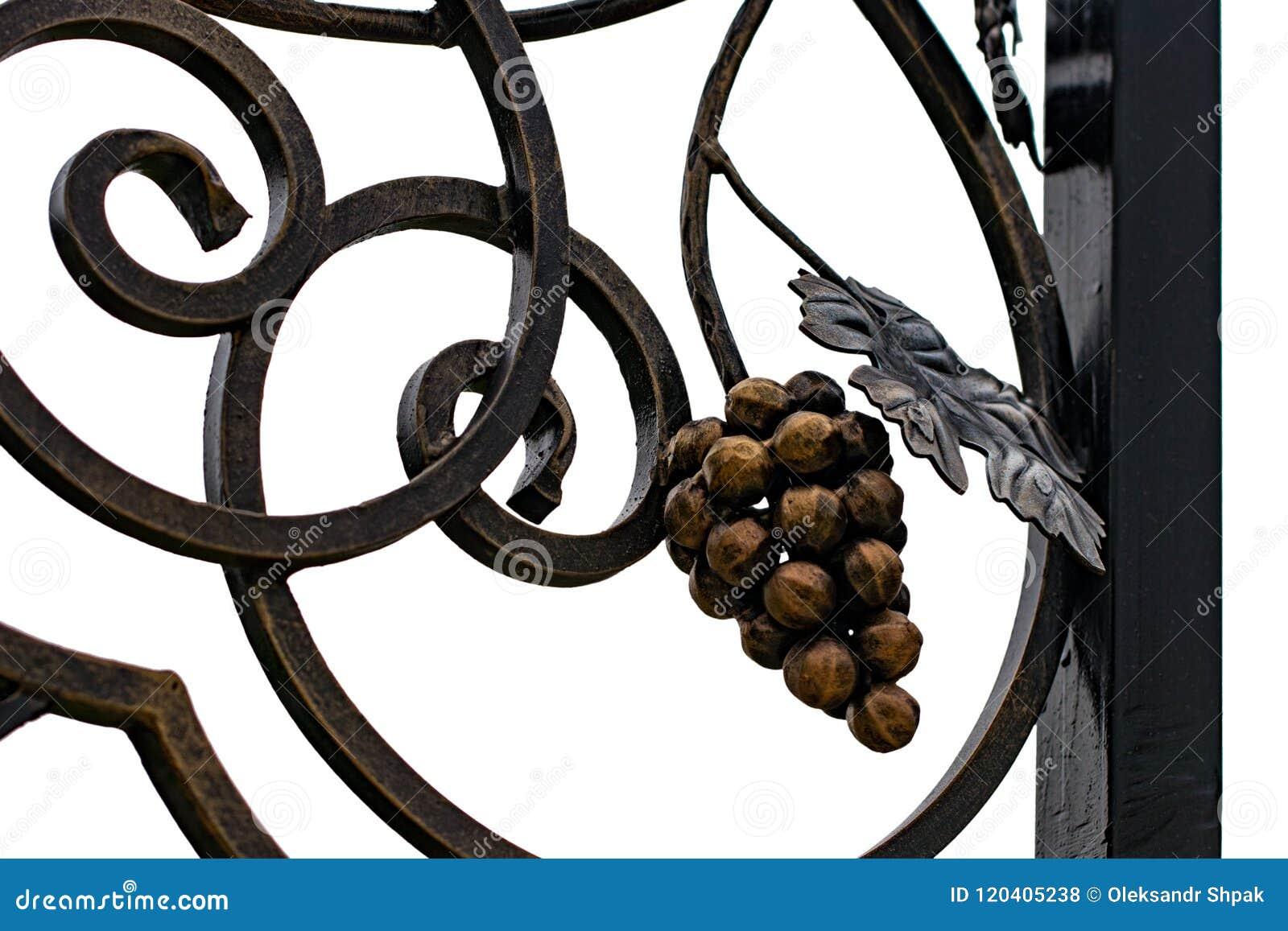 Smidesjärnportar, dekorativt smide, falsk beståndsdelnärbild