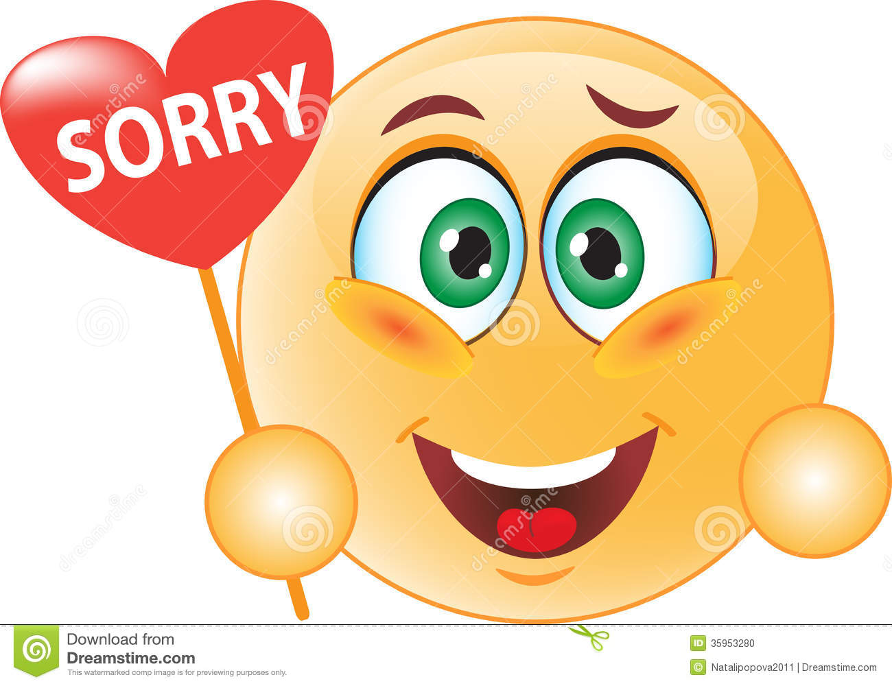 Smile Apologizes Stock Photo - Image: 35953280