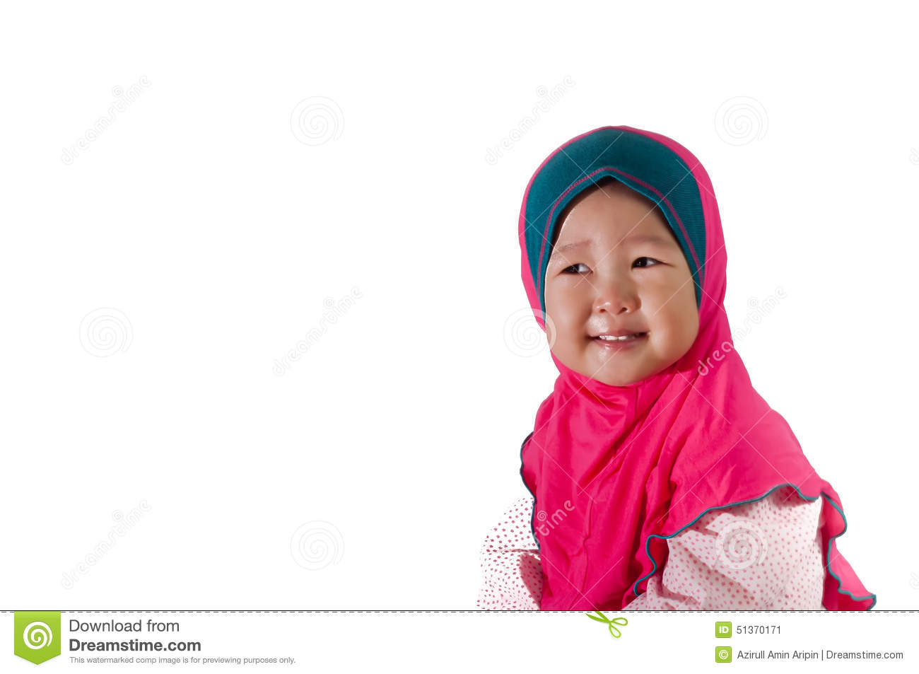 Smile Asian Girl Toddler With Isolated Background Stock Photo - Image 51370171-9054