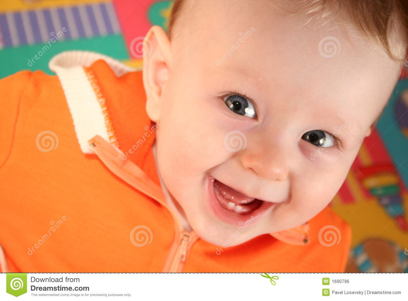 Smile Baby Boy With Tooth Stock Photo Image Of Face Grin