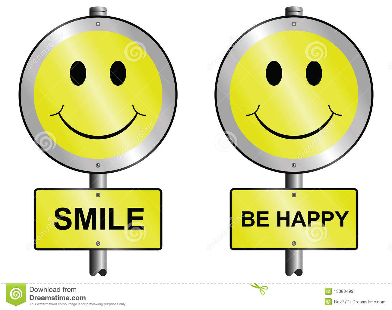 Smile And Be Happy Royalty Free Stock Images - Image: 13383499