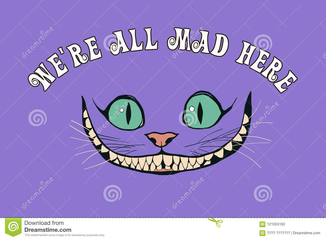 Smile Of A Cheshire Cat For The Tale Alice In Wonderland Stock