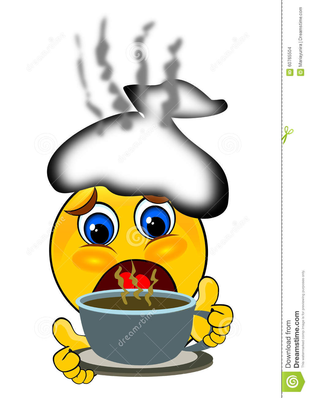 smile emoticons having cough and flu stock illustration rh dreamstime com Winking Smiley Face Clip Art Yummy Smiley Face Clip Art