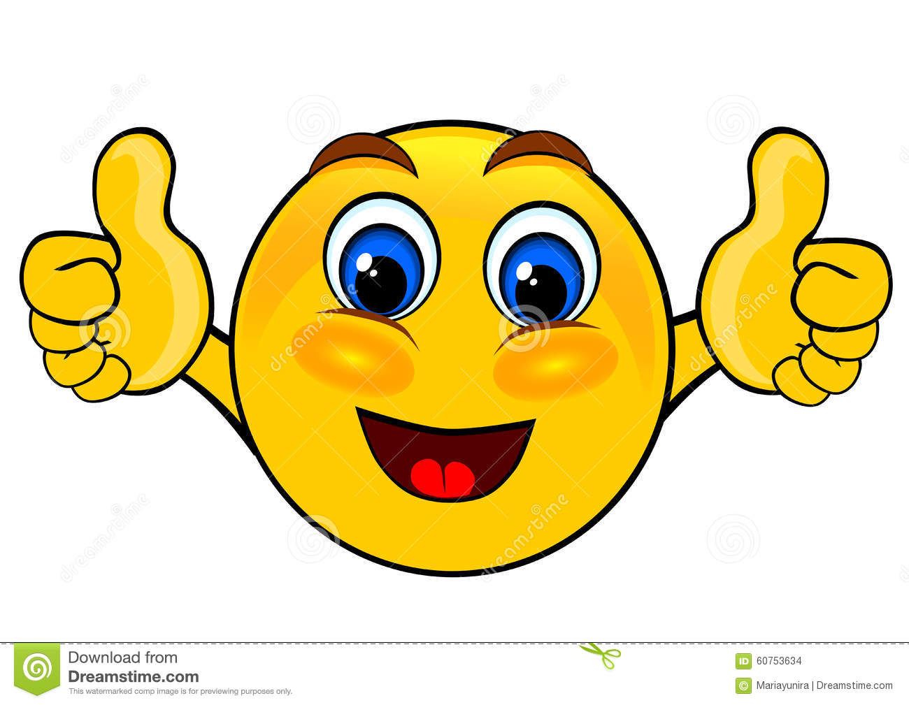 Smile Emoticons Thumbs Up Stock Illustration - Image: 60753634: www.dreamstime.com/stock-illustration-smile-emoticons-thumbs-up...