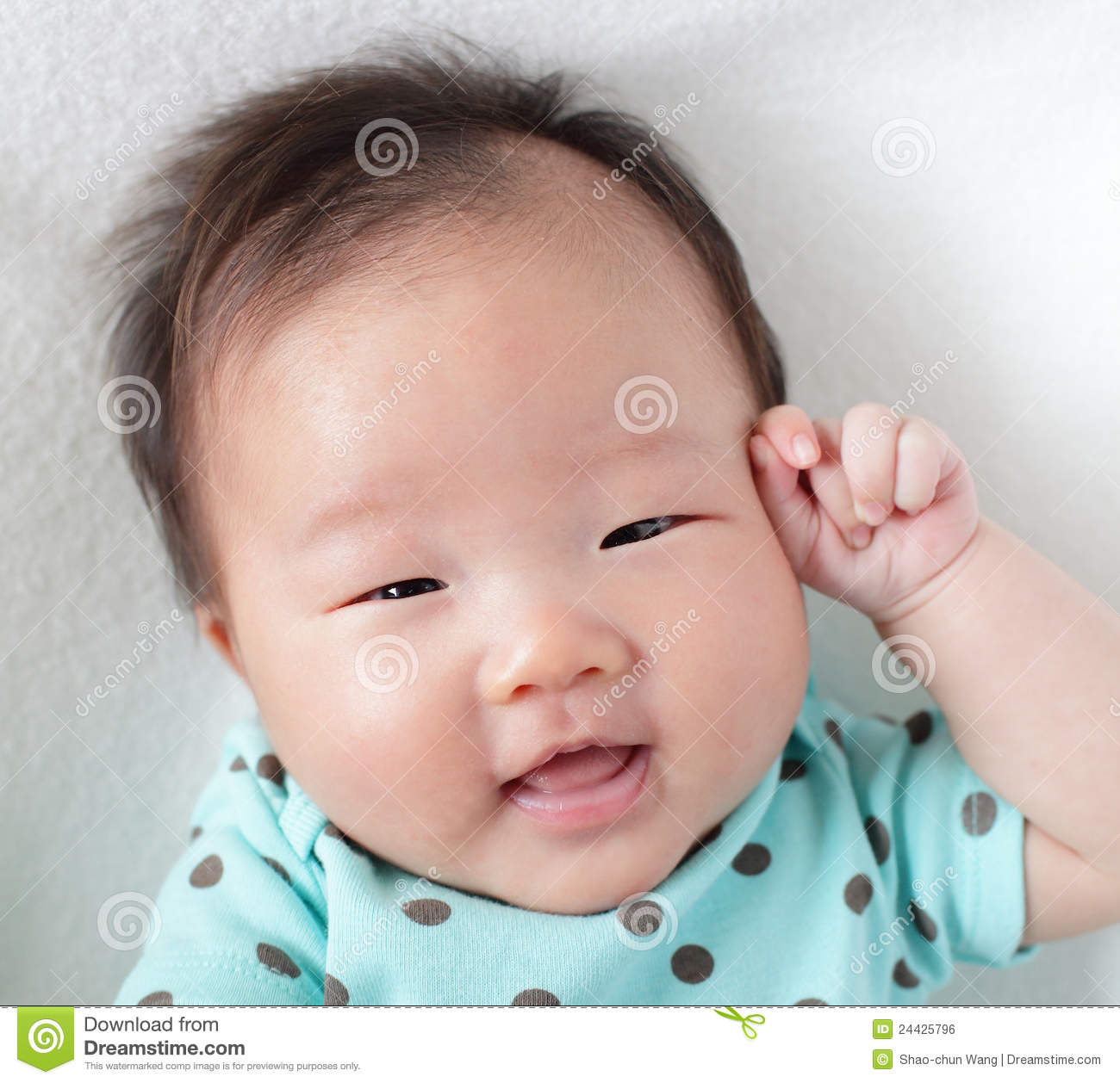 e113114bb Smile Face Close Up Of A Cute Baby Stock Photo - Image of infant ...