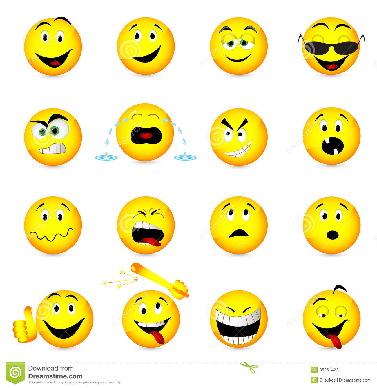 Smile face icons stock photo Image of yawning confused 35351422