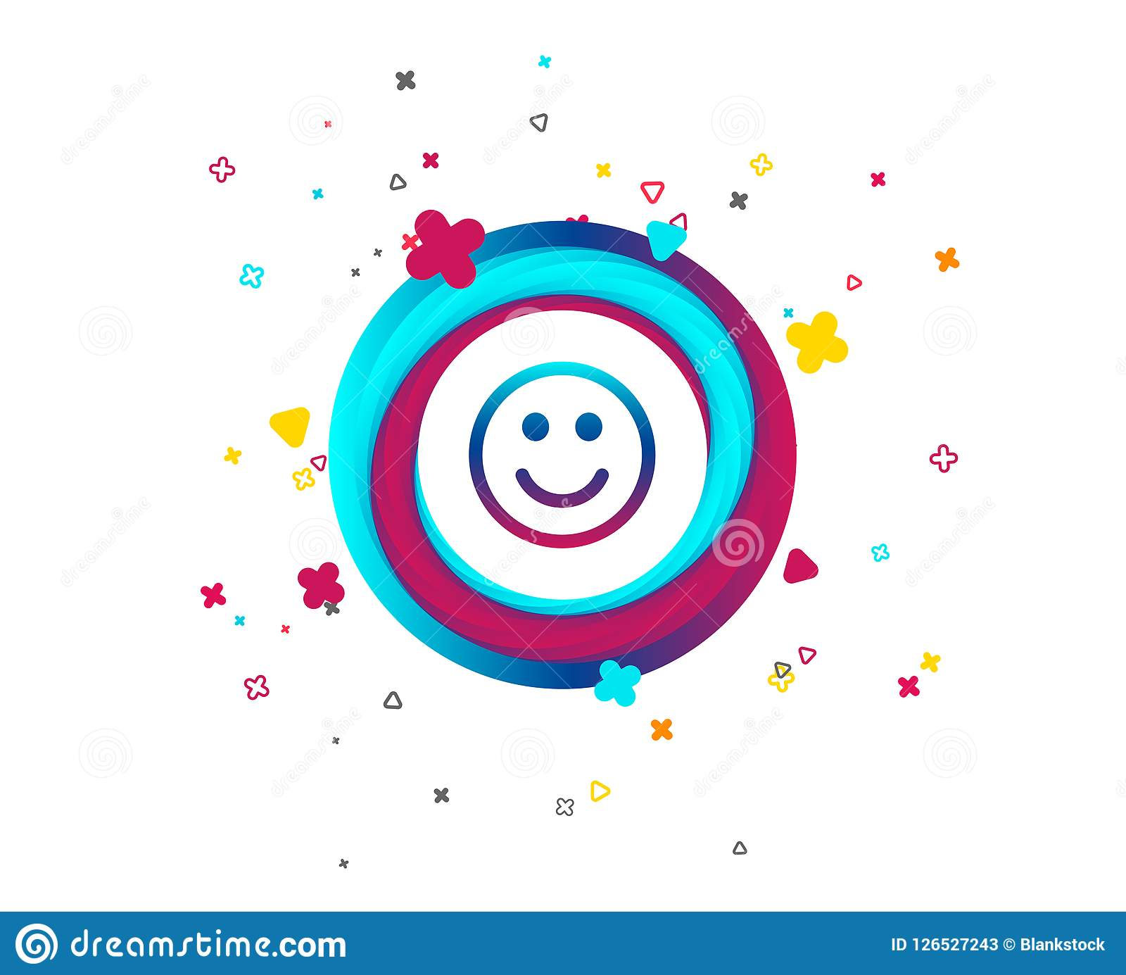 Smile Icon Happy Face Symbol Stock Vector Illustration Of