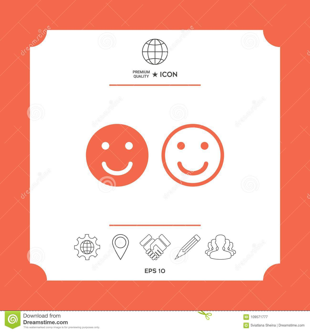 Smile Icon Happy Face Symbol For Your Web Site Design Stock Vector