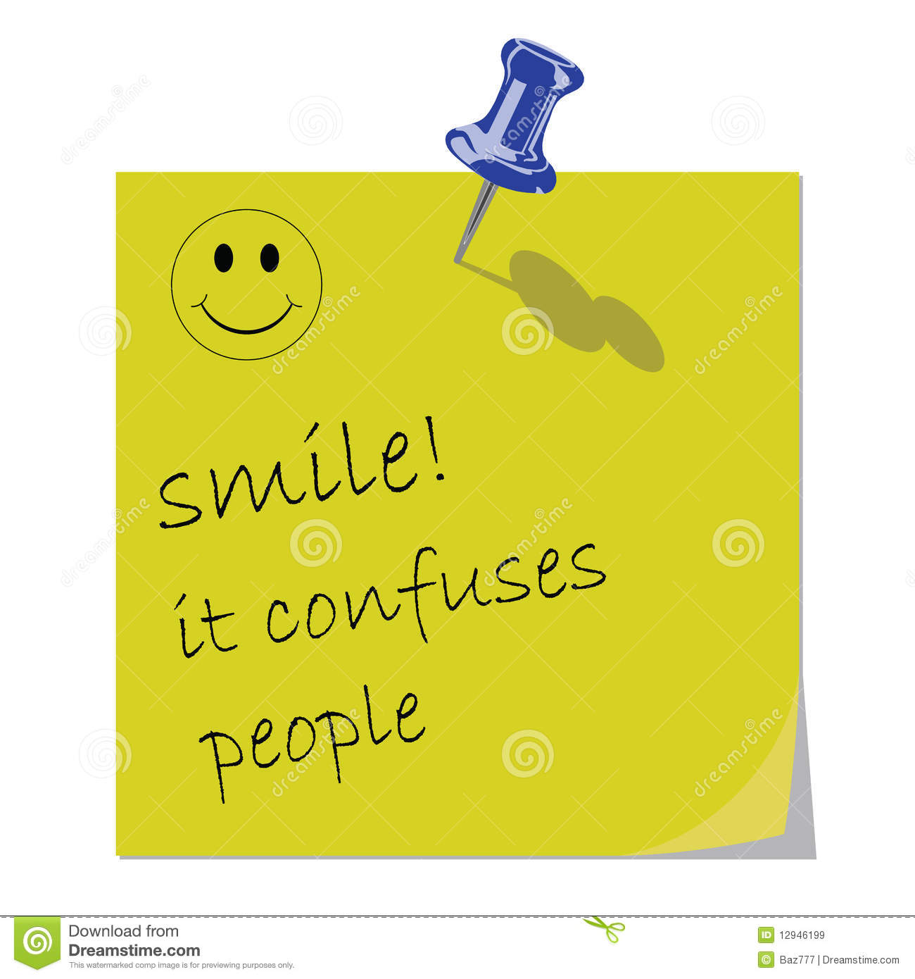 Smile Message Royalty Free Stock Images - Image: 12946199