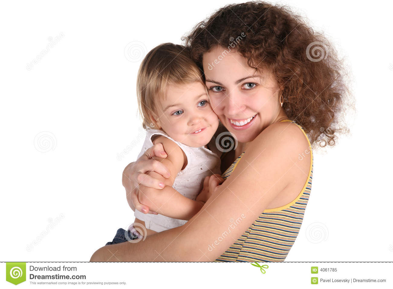 Smile mother with baby