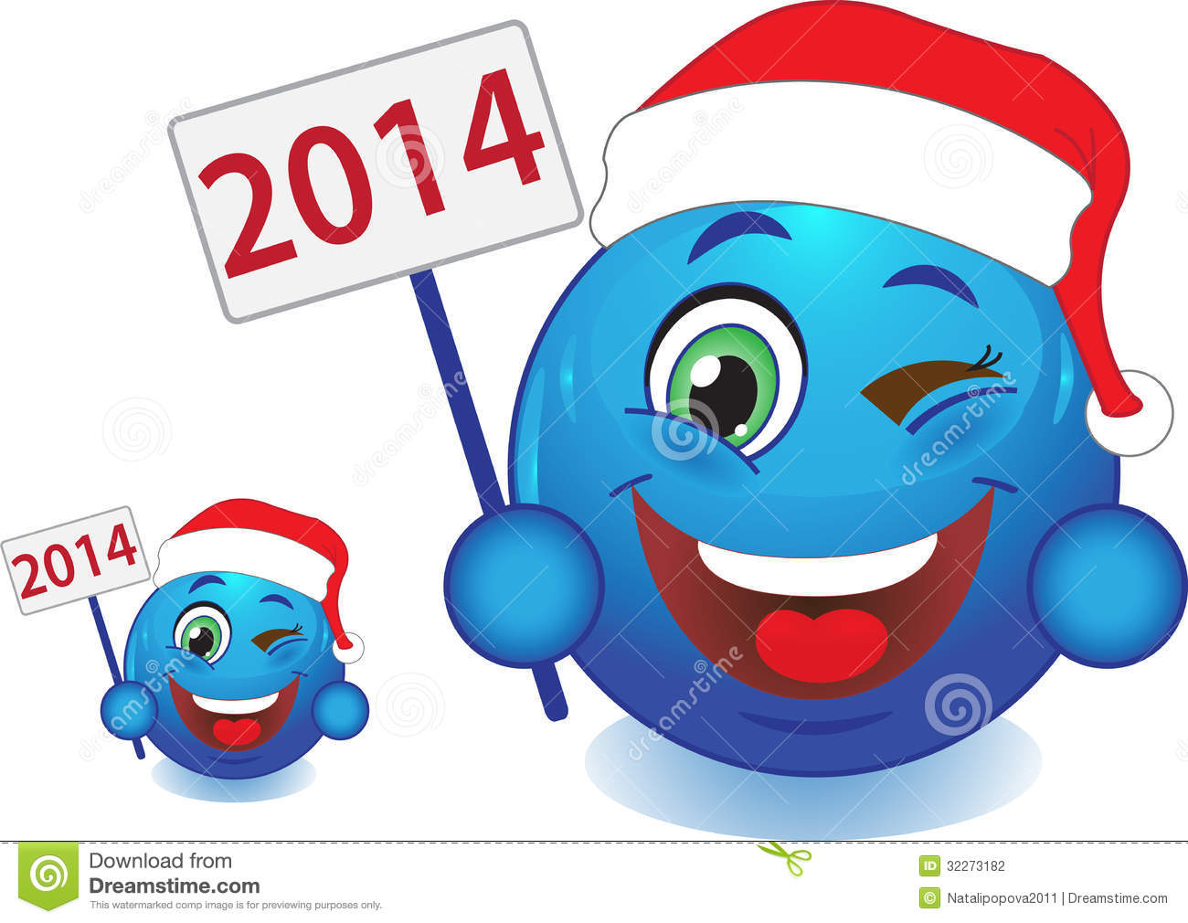 happy new year smiley face clip art - photo #23