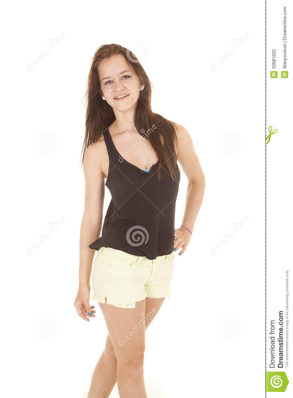 smile stand hand on hip blue stock photo image of body face 33681020