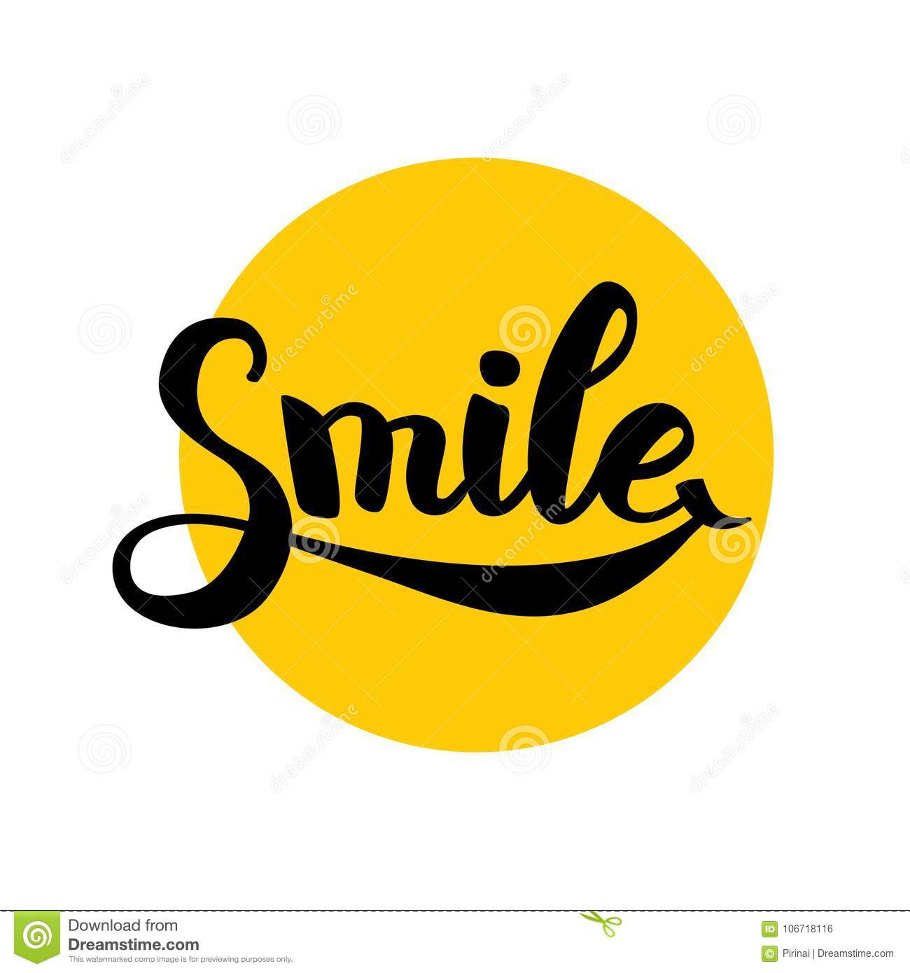 Smile Typography Logo Stock Vector Illustration Of Face