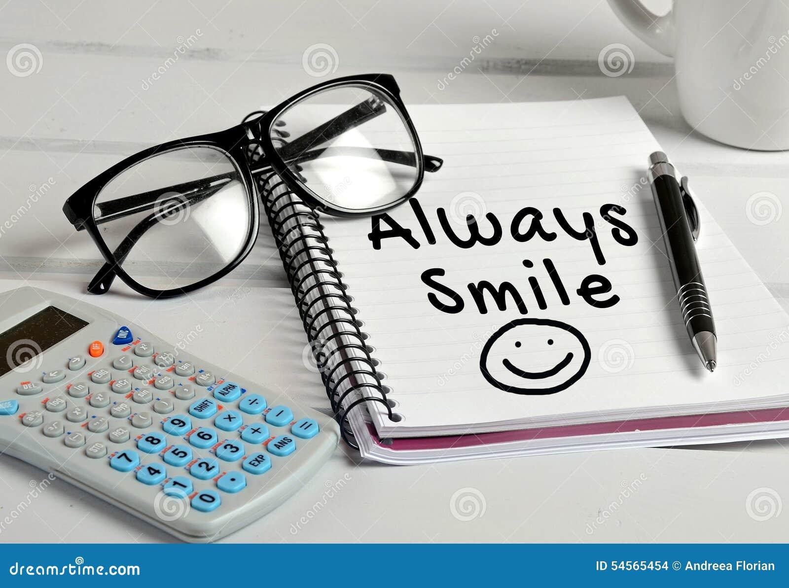 Always Smile Word Stock Photo - Image: 54565454