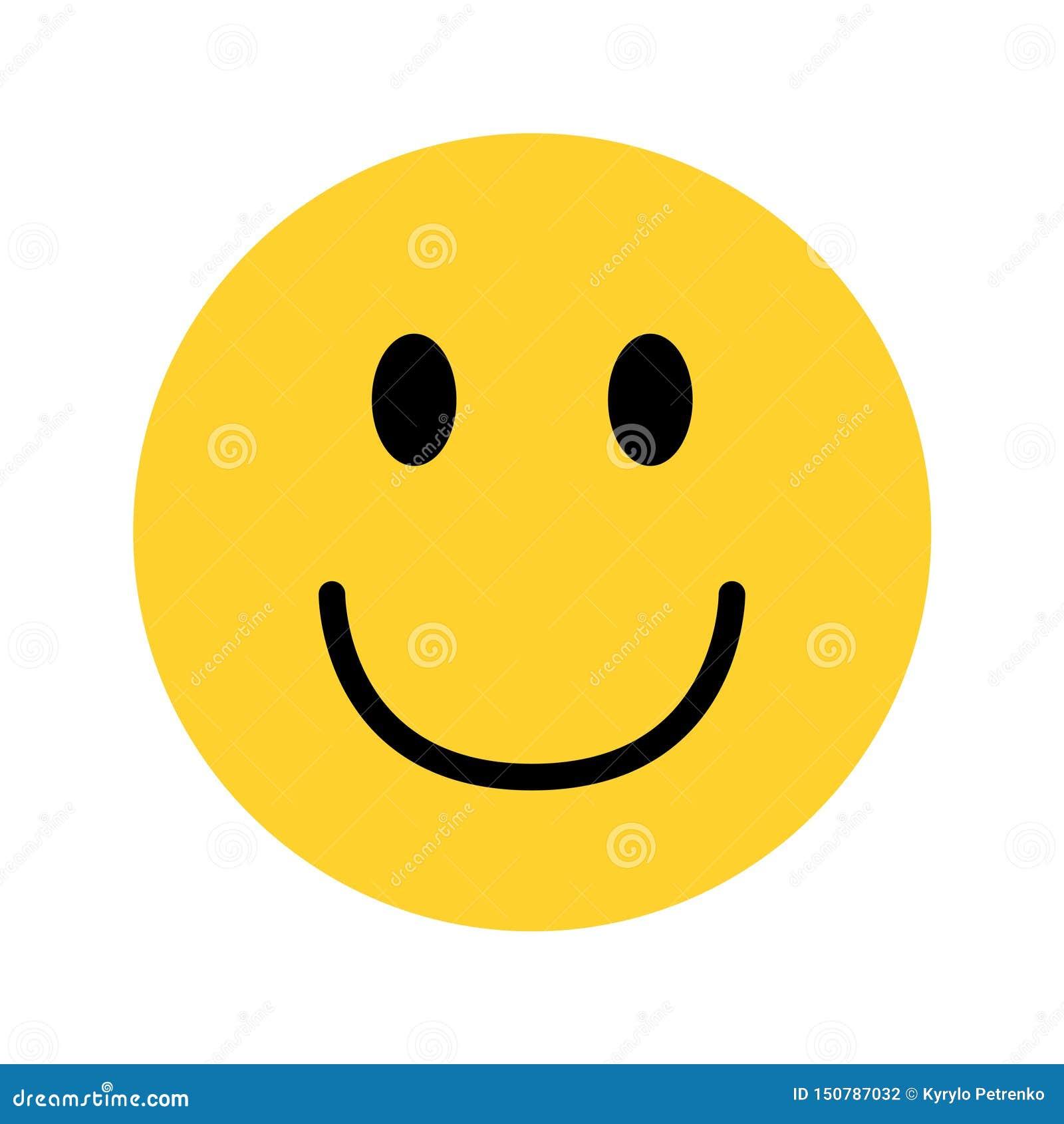 Smiley żółty twarzy emoji na białym tle