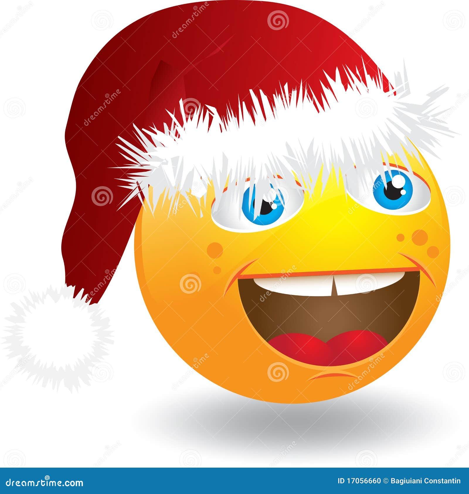 Smiley προσώπου Χριστουγέννων