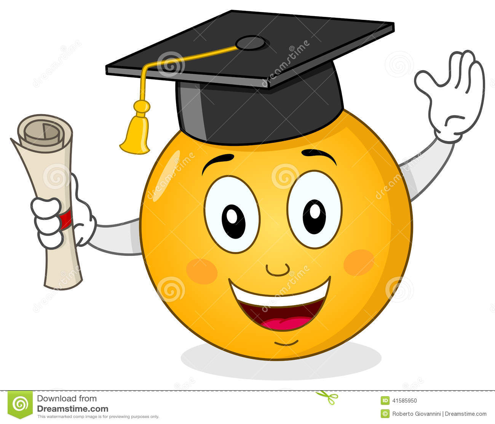 smiley avec le chapeau et le dipl u00f4me d obtention du graduation cap border clip art free preschool graduation border clip art