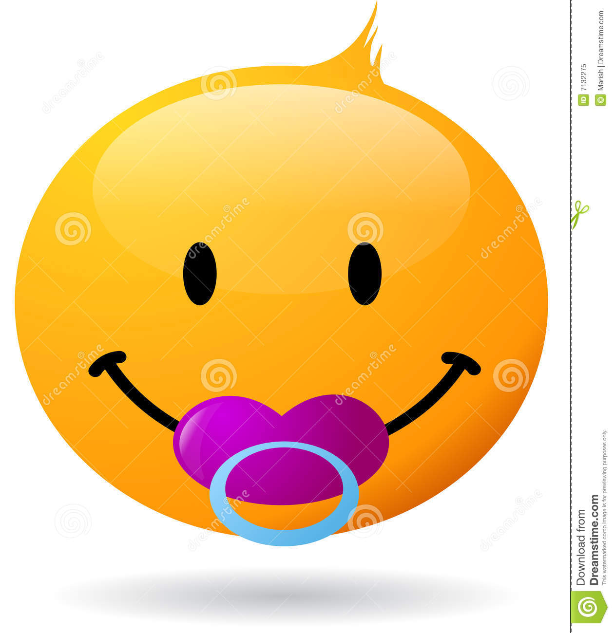 Smiley Baby Stock Vector Illustration Of Sign Human