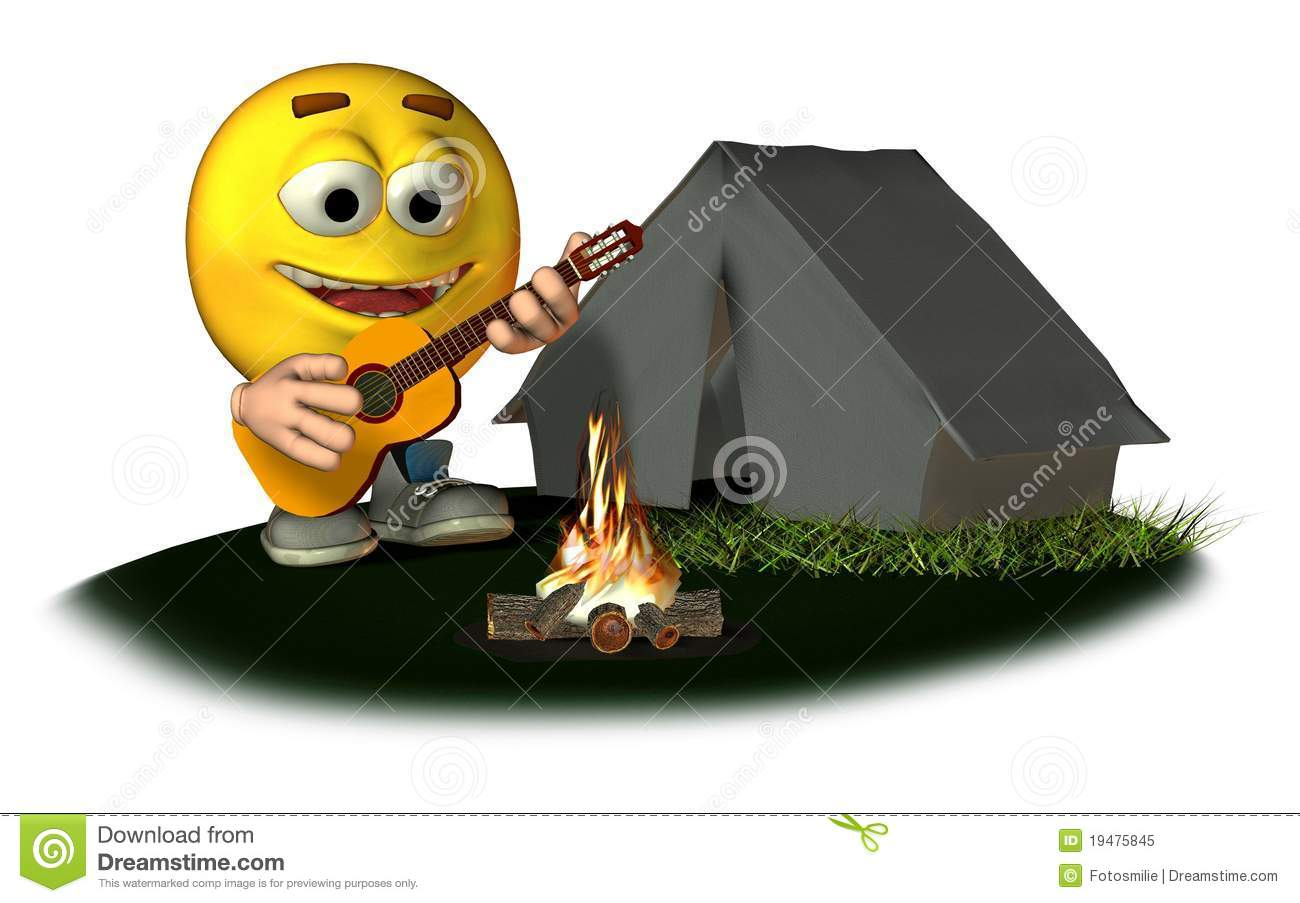 Smiley Camping Royalty Free Stock Photo - Image: 19475845