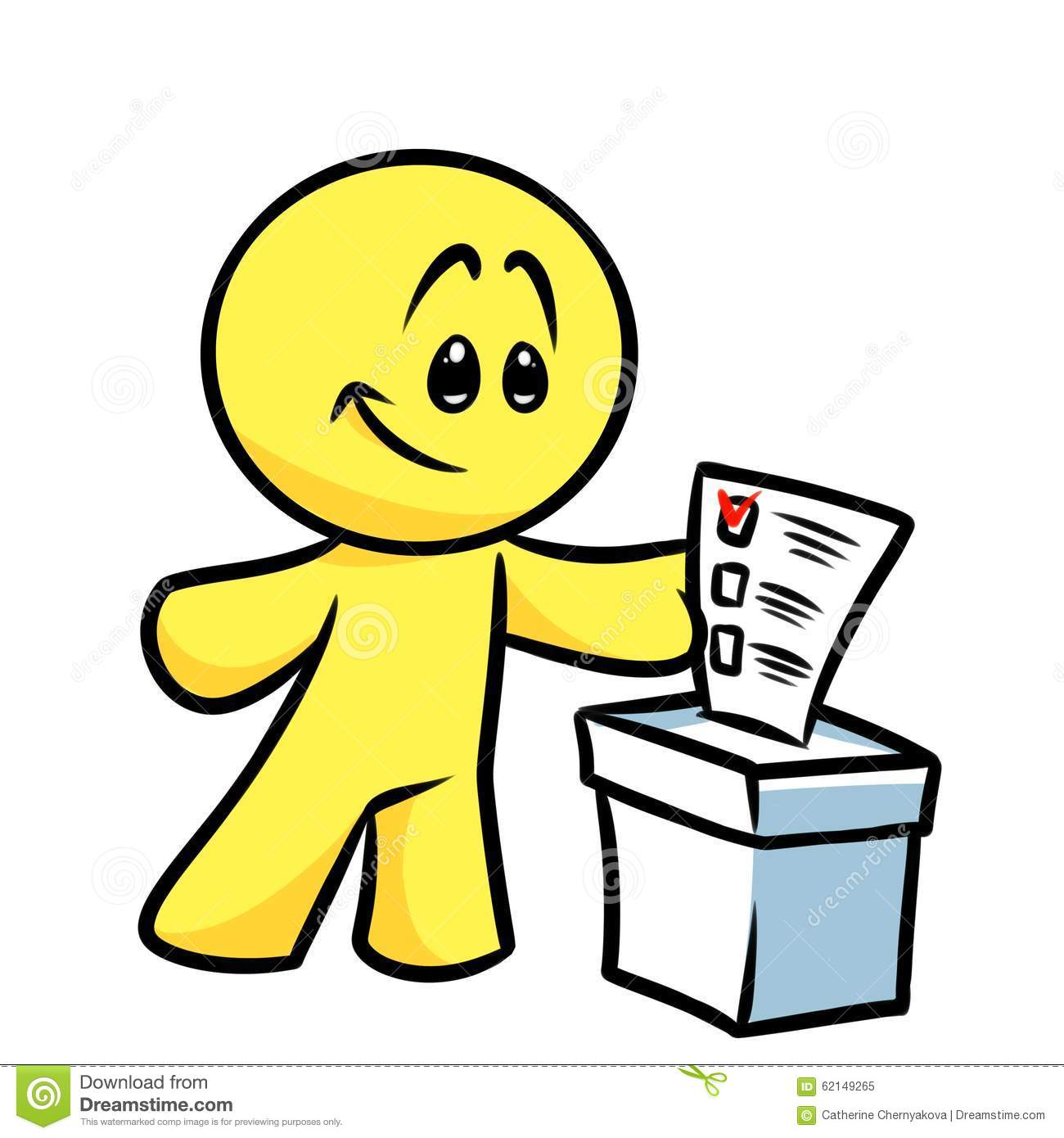 Smiley Character Vote Election Ballot Stock Illustration - Image ...