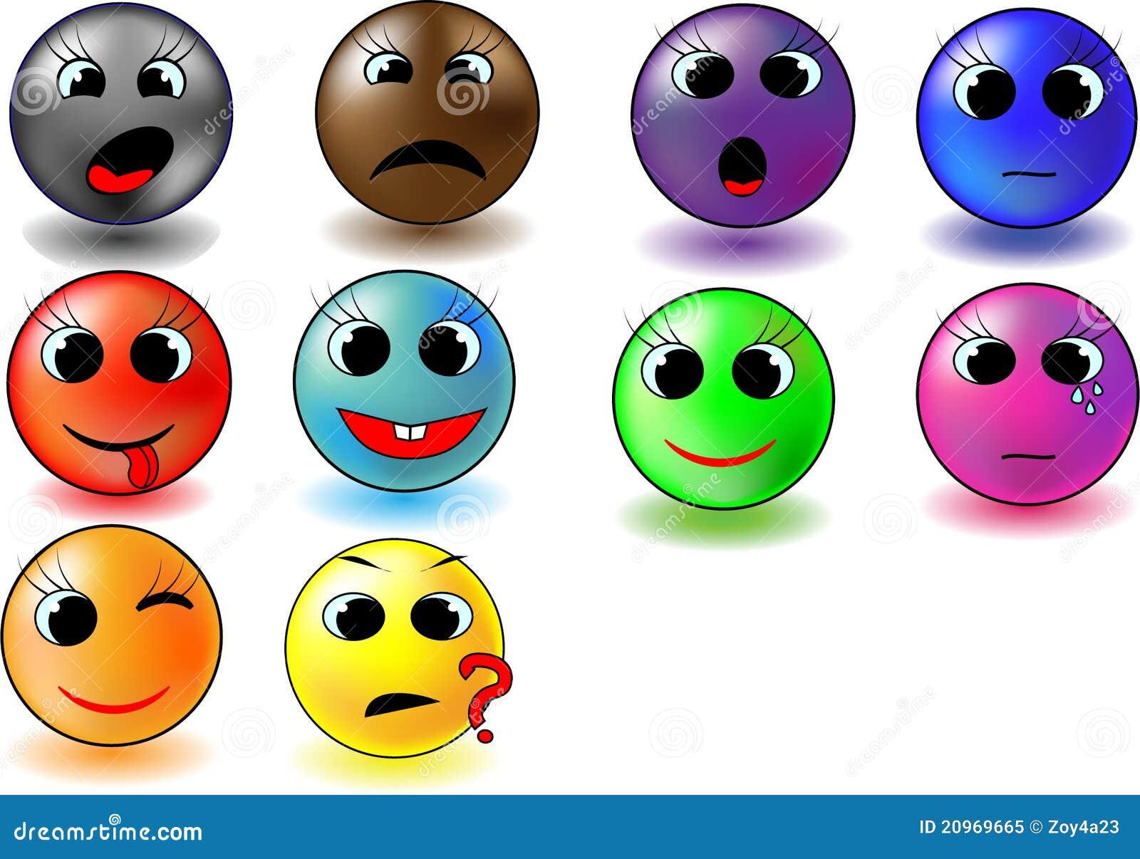 Smiley de couleur illustration de vecteur illustration du - Smiley en noir et blanc ...