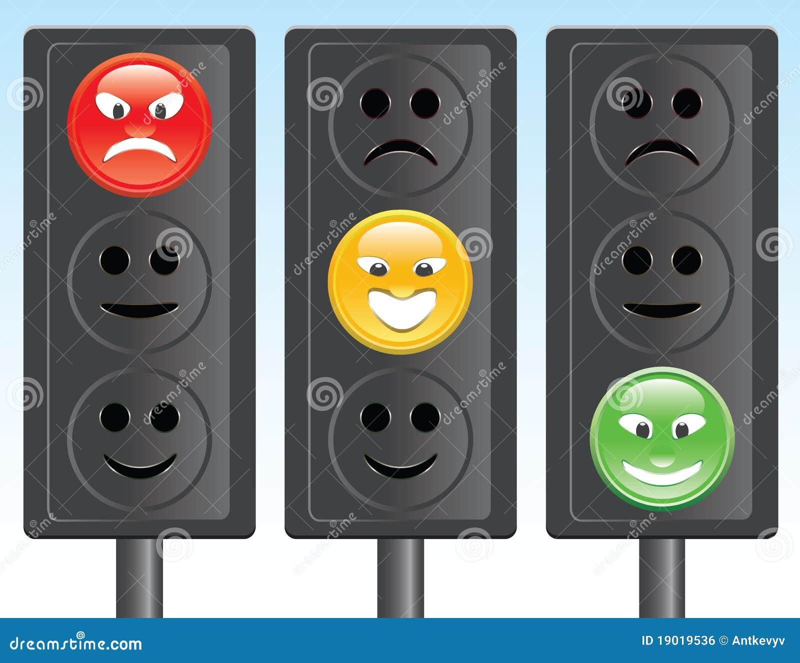 Smiley De Feu De Signalisation Image Libre De Droits
