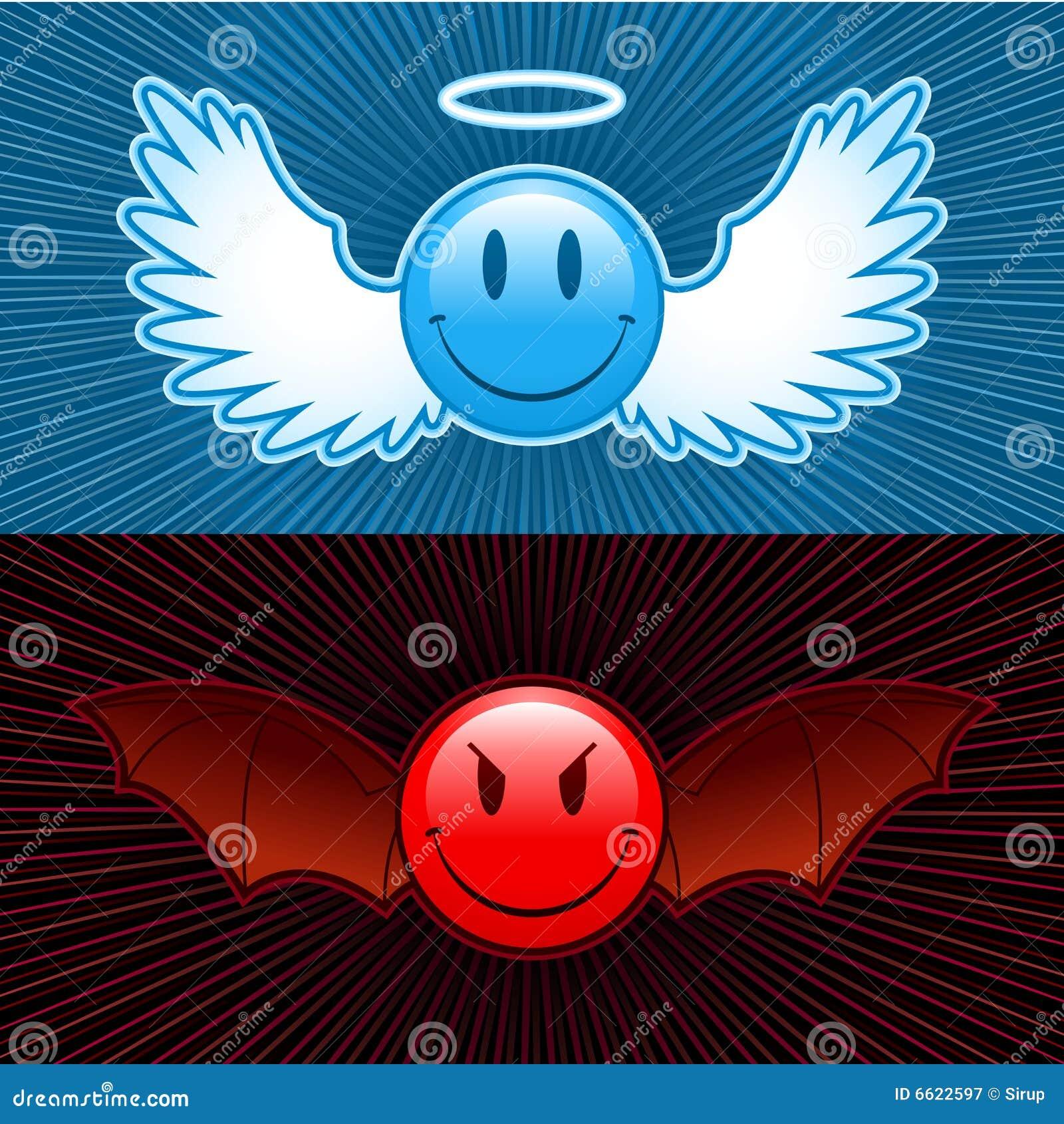 Smiley de le bien et le mal illustration de vecteur - Download god is good all the time ...
