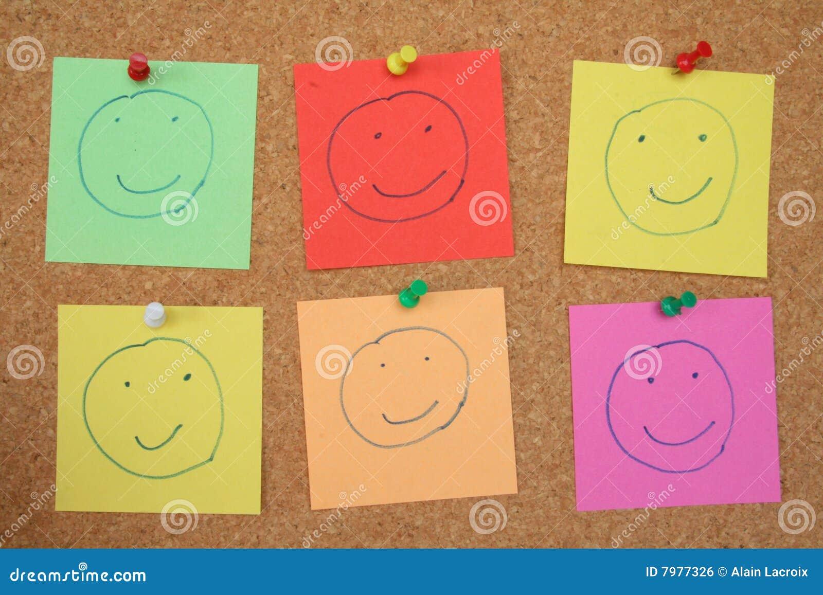 smiley de tableau d 39 affichage photo stock image 7977326. Black Bedroom Furniture Sets. Home Design Ideas