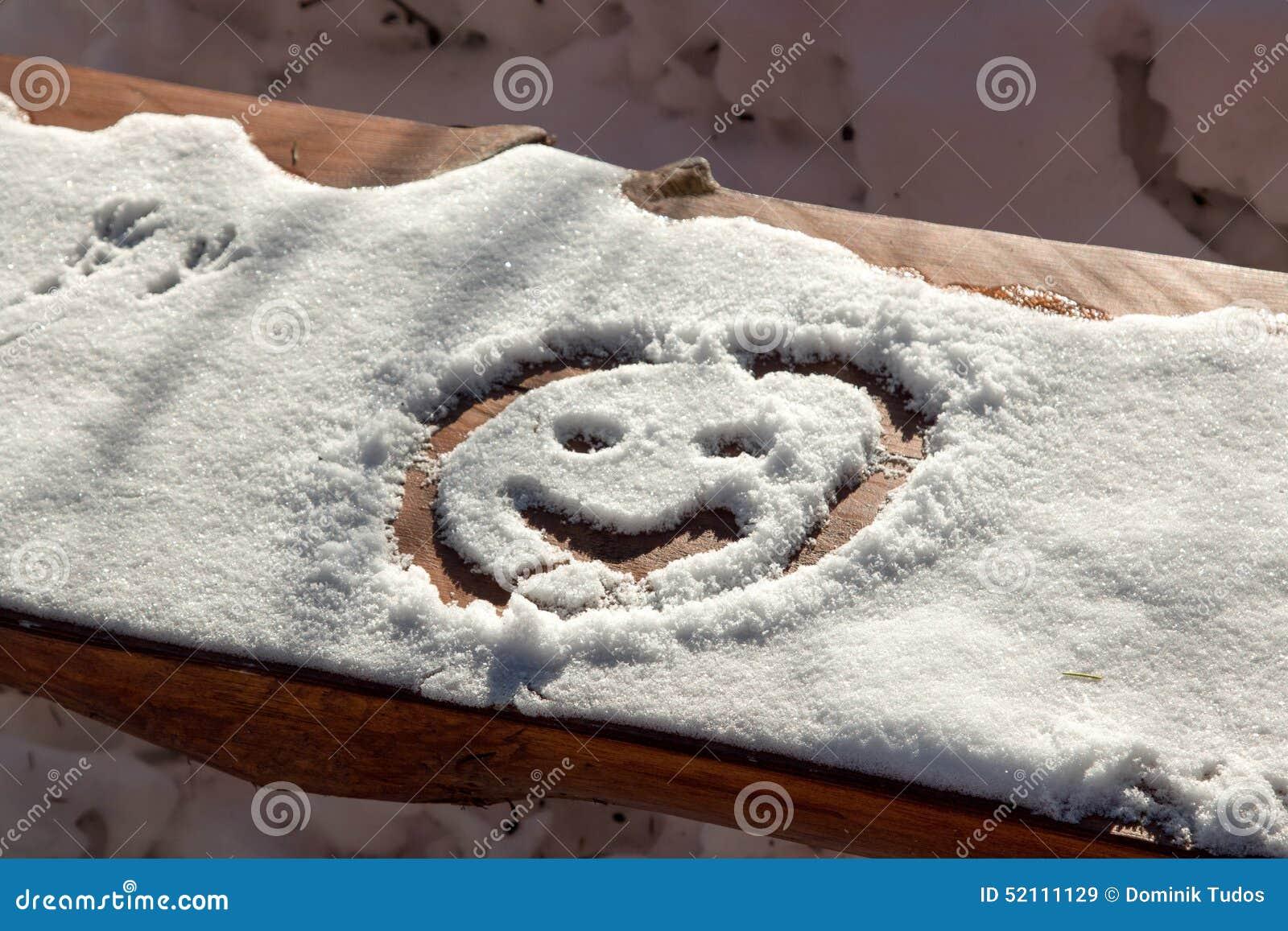 Smiley della neve