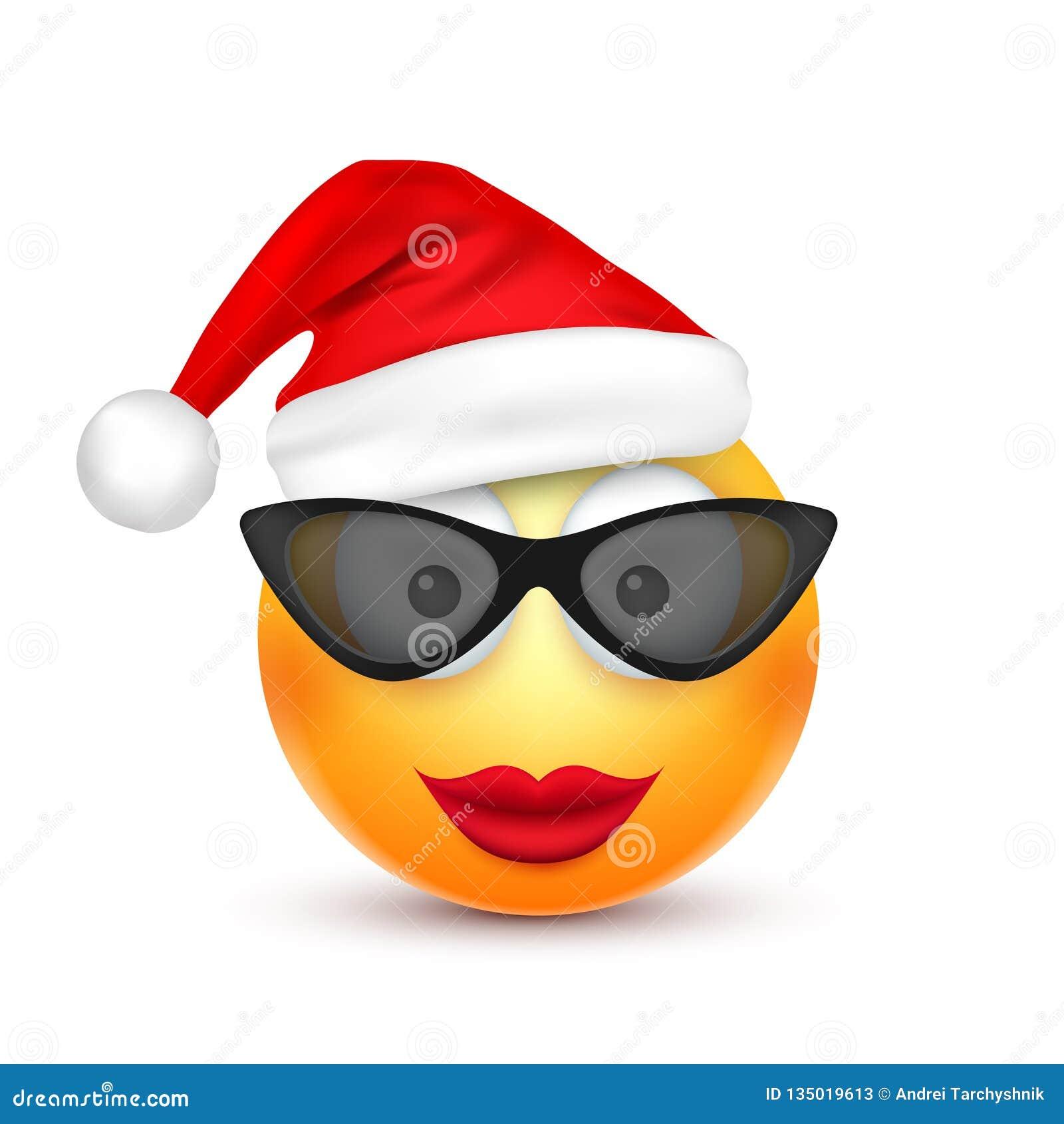 Smiley Emoticon Emoji Amarillo Cara Con Emociones Y El Sombrero De