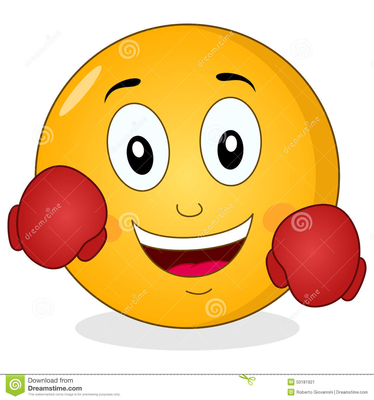 Punching glove clipart