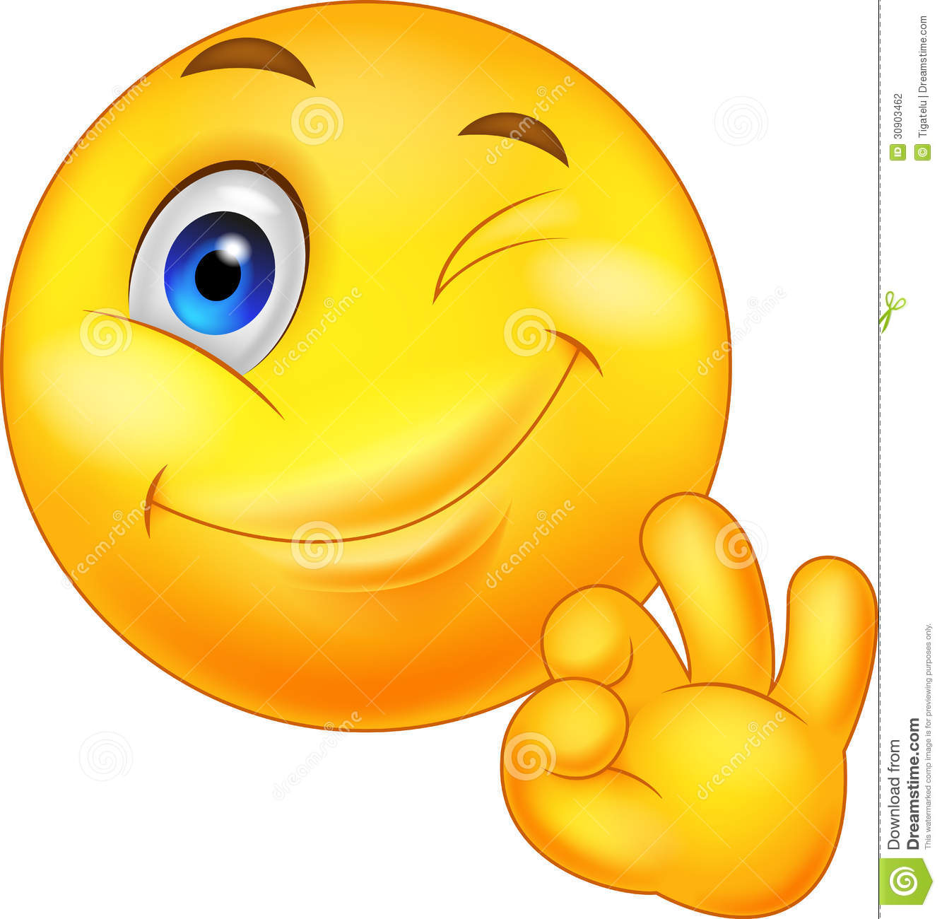 Smiley Emoticon With Ok Sign Vector Illustration ...