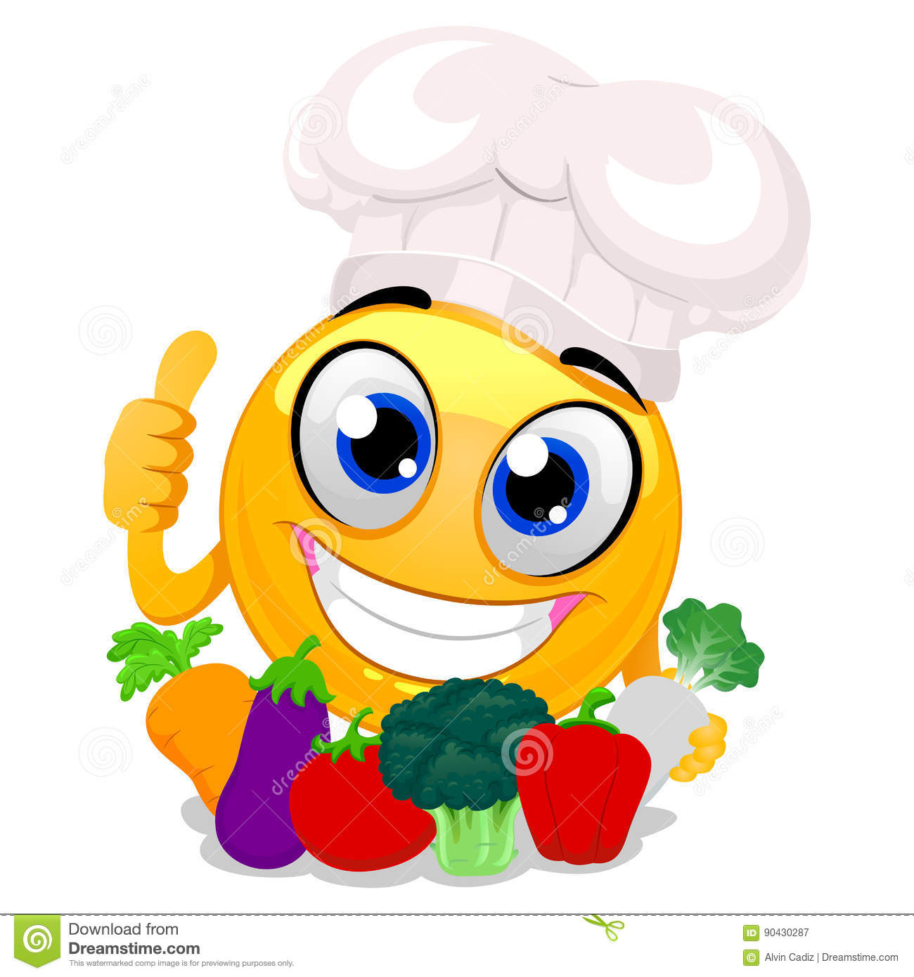 Chef cook emoji emoticon cartoon vector cartoondealer for Job cuisinier