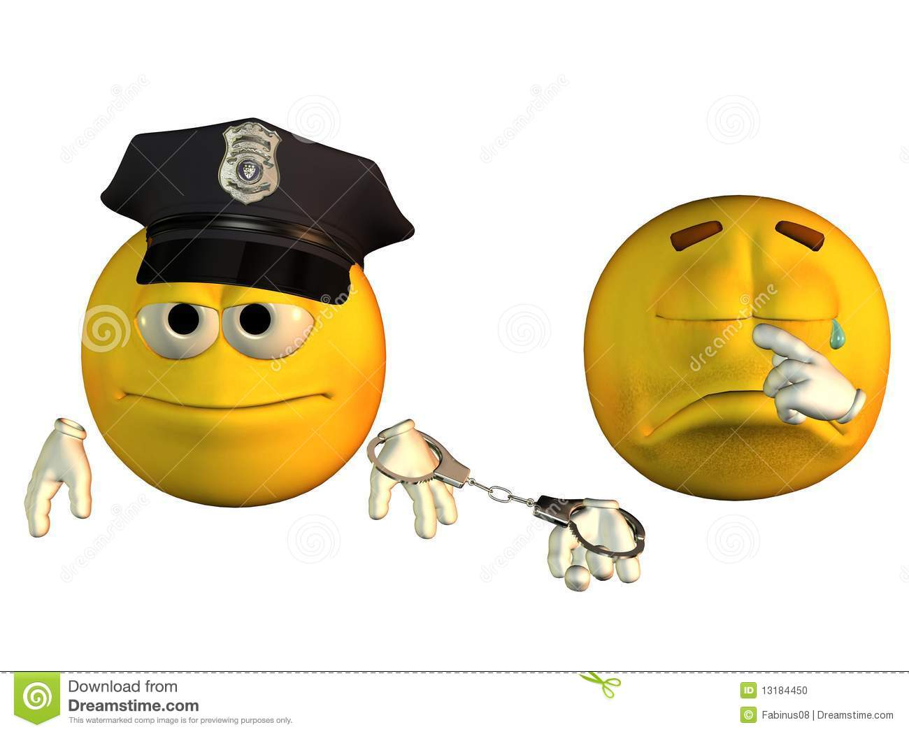 Smiley Face Cop And Robber Stock Illustration