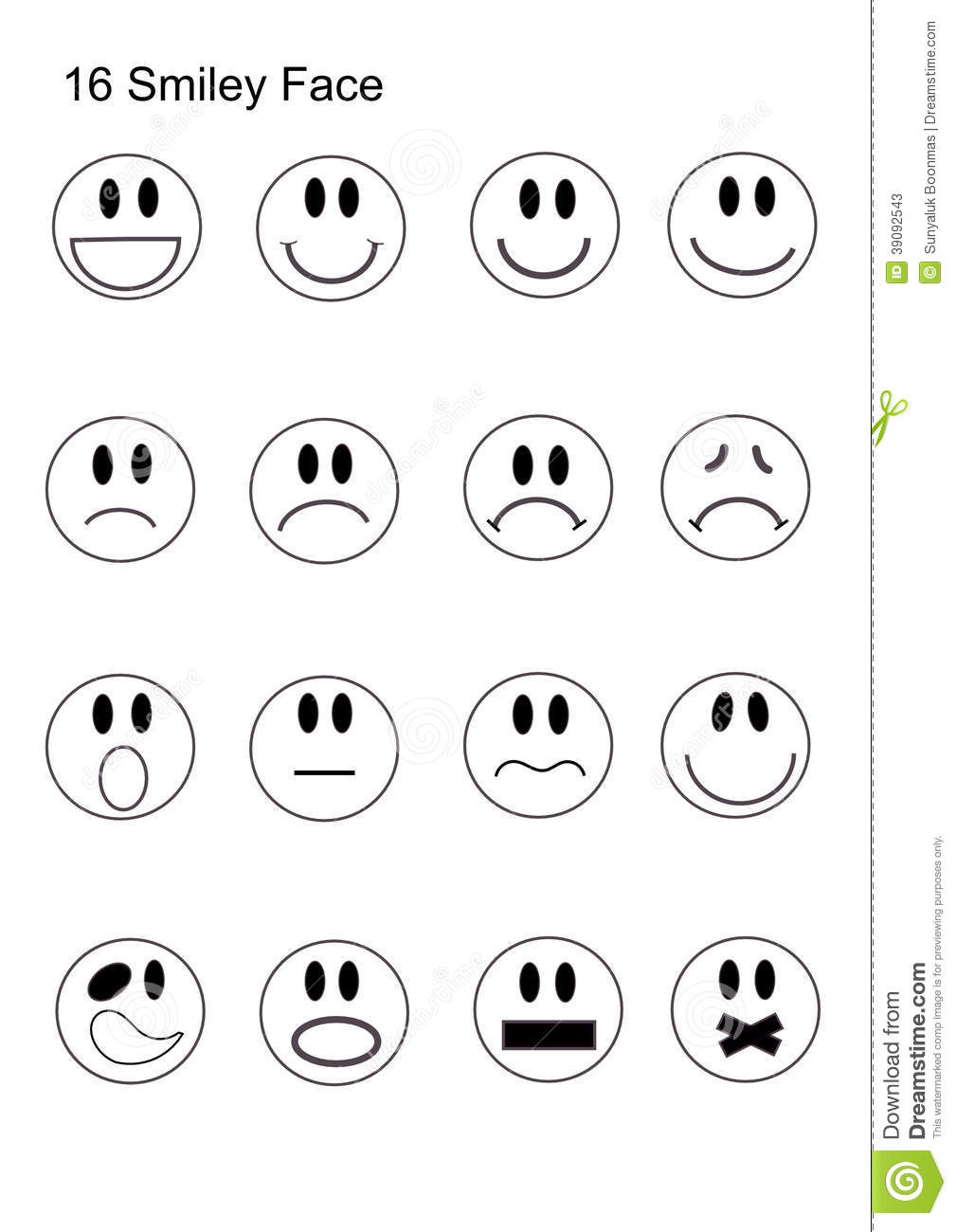 Smiley Face Sad Face Coloring Pages