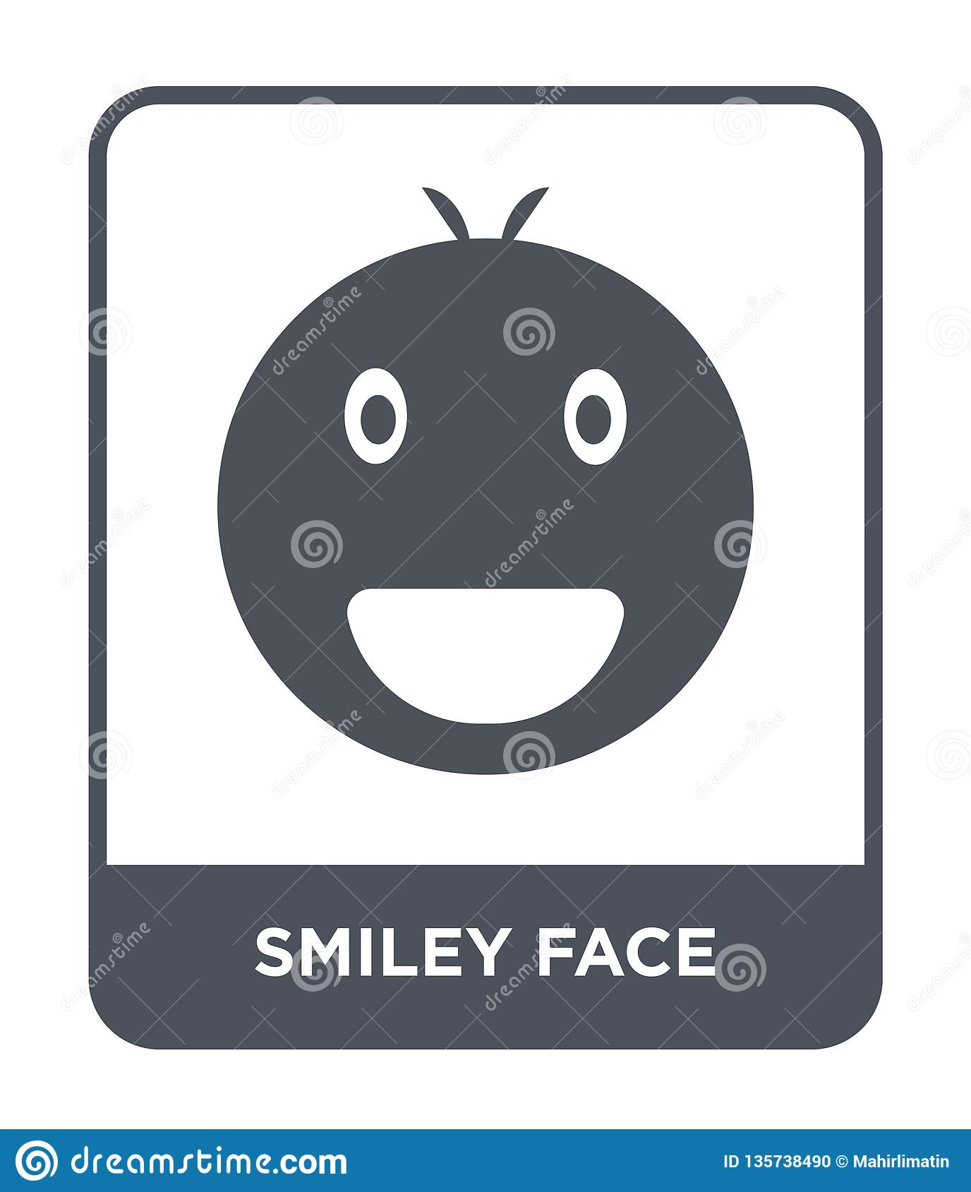 smiley face icon in trendy design style. smiley face icon isolated on white background. smiley face vector icon simple and modern
