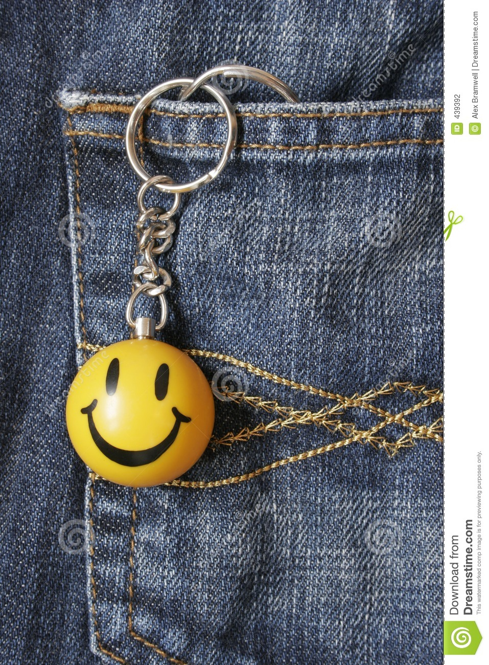 smiley face keyring stock photo  image of symbol  face