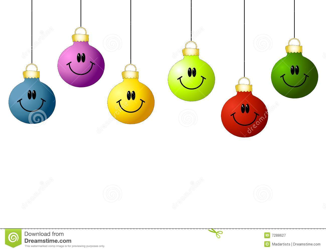 Smiley Face Ornaments stock illustration. Illustration of xmas - 7288627