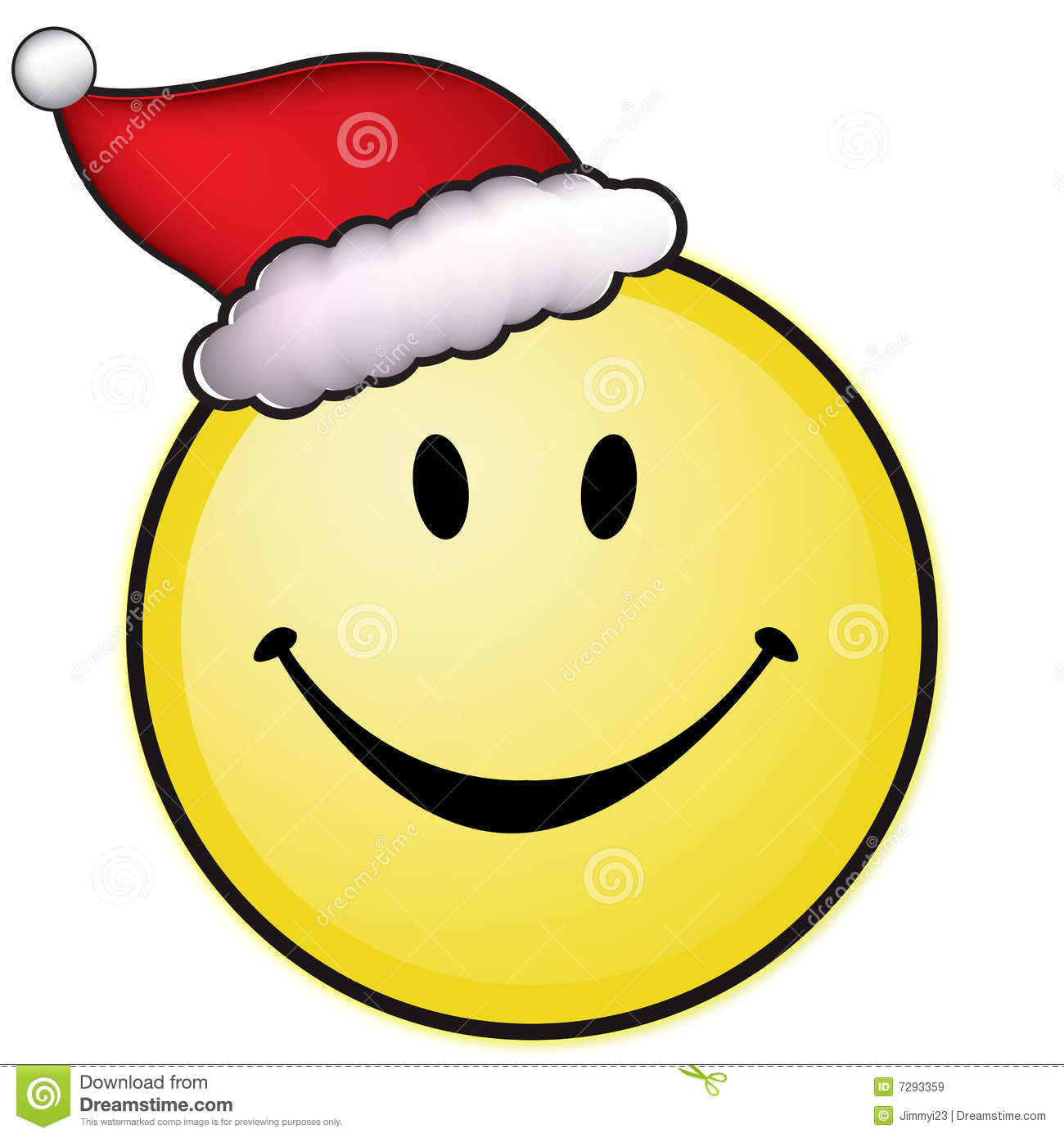 Smiley Face With Santa Hat Royalty Free Stock Images - Image: 7293359