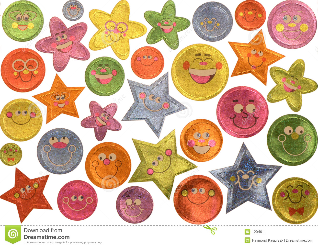 Smiley Face Stickers Stock Image - Image: 1204611