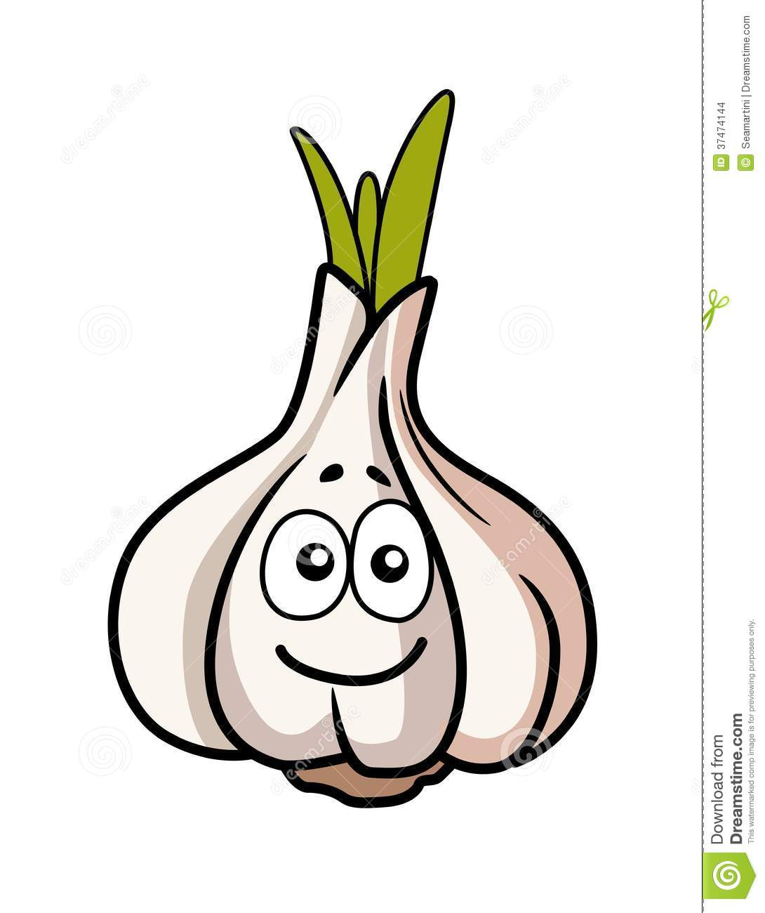 Smiley Faced Garlic Bulb Stock Images - Image: 37474144