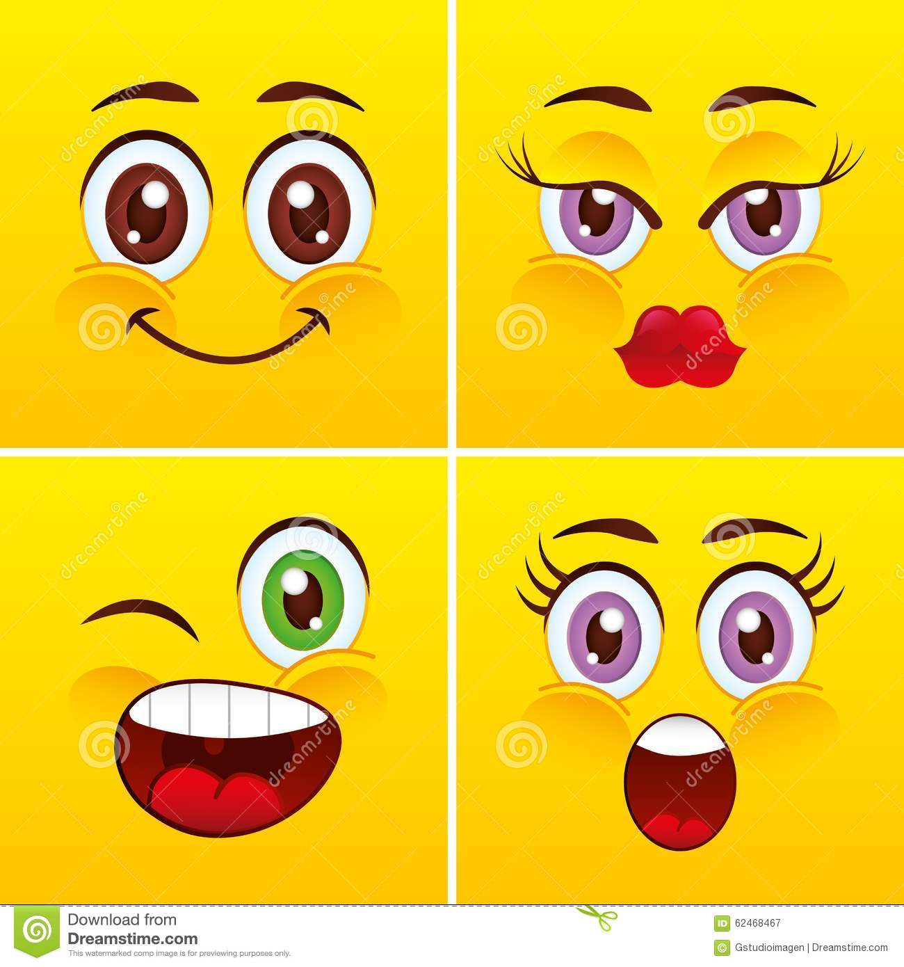 Smiley Faces Design Stock Vector. Illustration Of Smile