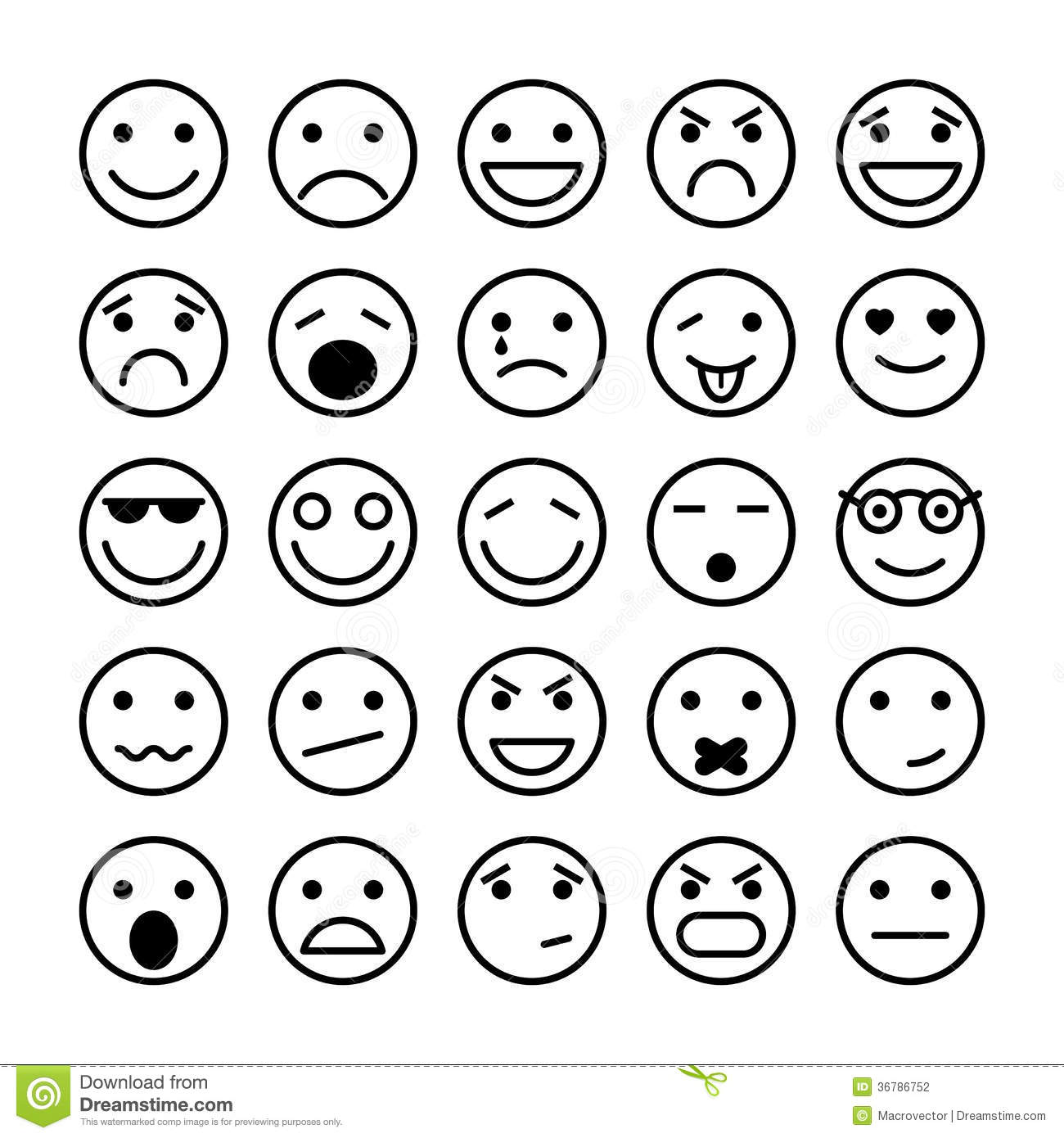 Smiley Faces Elements For Website Design Stock Photography - Image ...