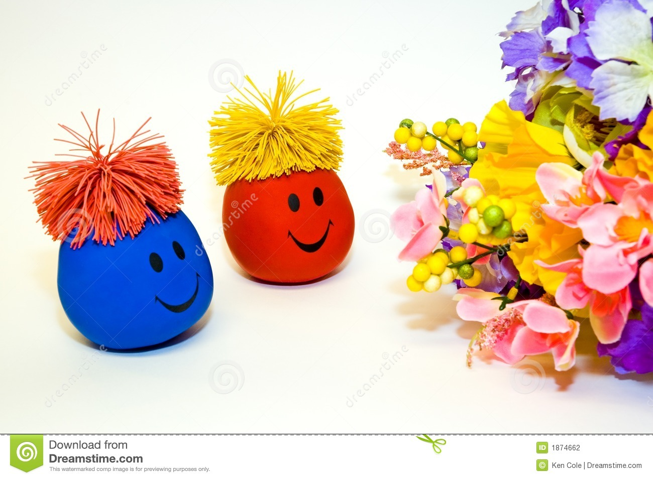 Smiley faces and flower bouquet stock photo image of colors smiley faces and flower bouquet izmirmasajfo