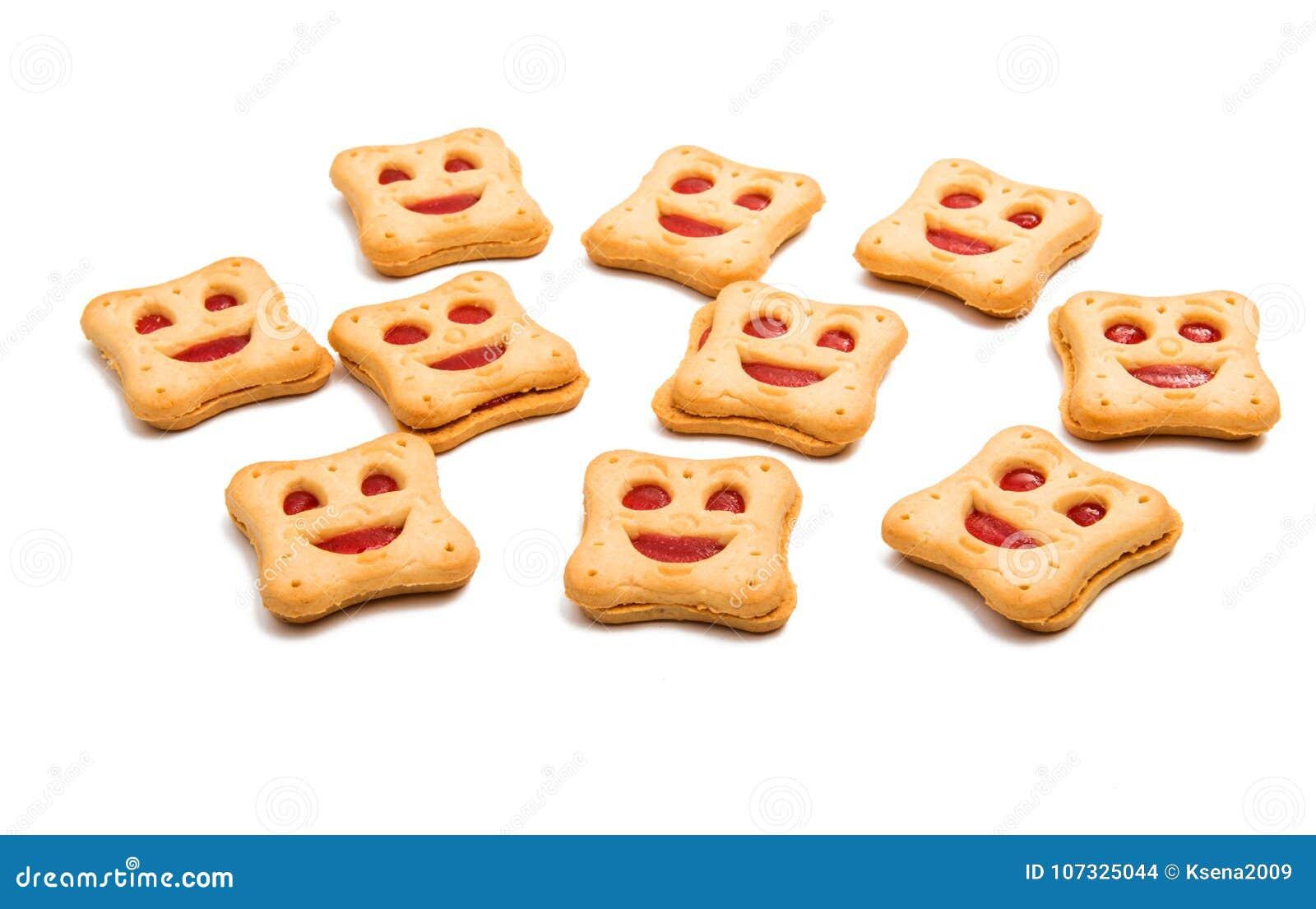 Smiley feito casa das cookies isolado