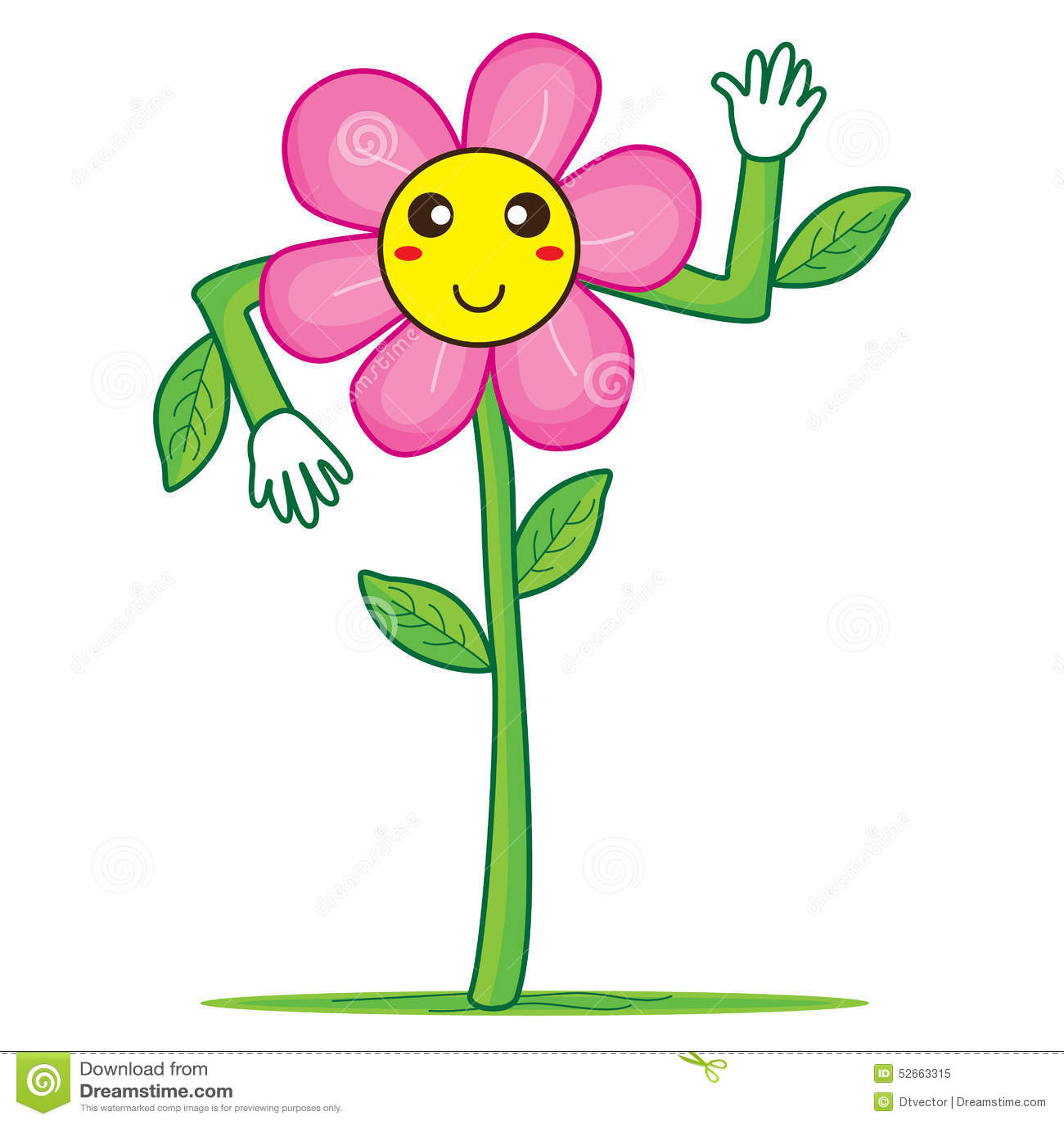 Smiley flower hello