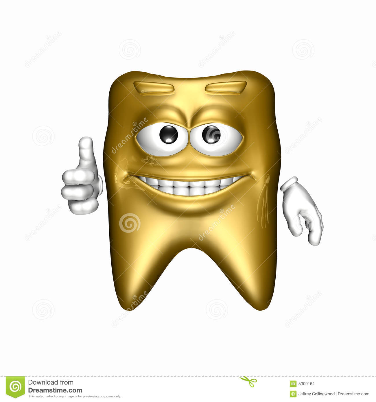 Smiley Gold Tooth stock illustration. Image of metal ...