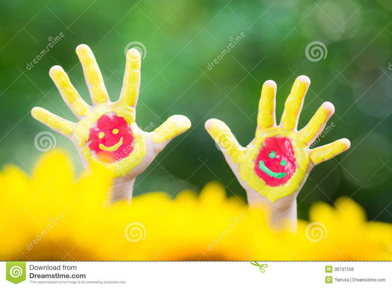 Smiley hands