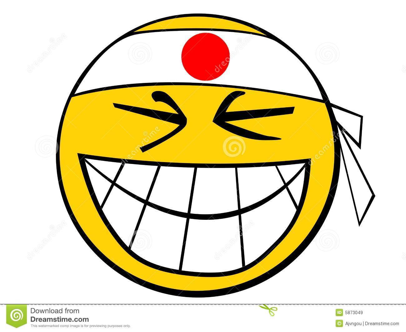 Smiley Icon Japan Guy Royalty Free Stock Images - Image: 5873049