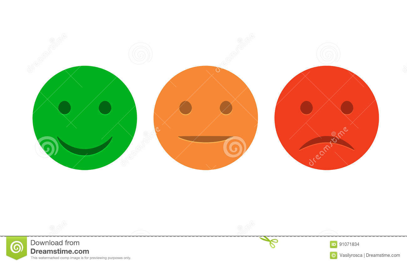 Green Smiley Face Stock Photos: Red Yellow Green Smiley Isolated Royalty-Free Stock Image